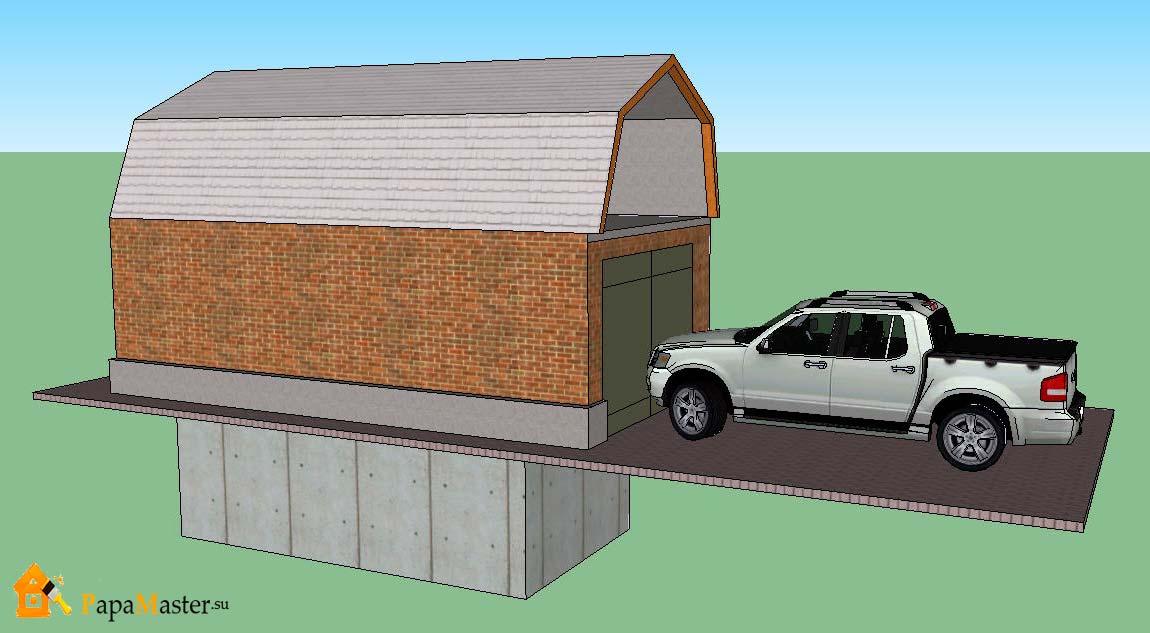 гараж с подвалом проект