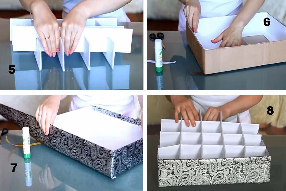 Коробки для хранения своим руками