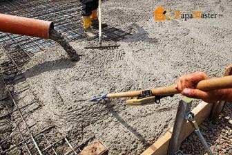 заливка бетона плитного фундамента