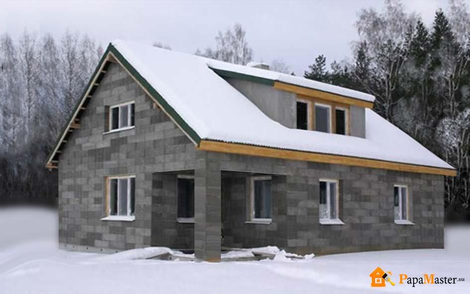 Шлакоблочные дома своими руками