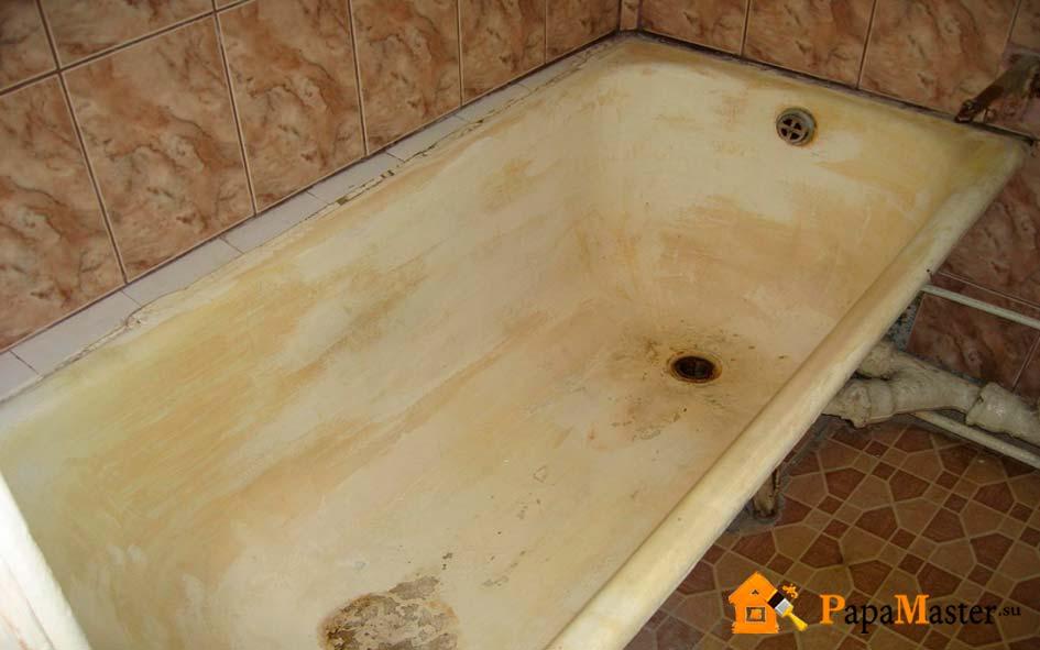 как демонтировать старую ванну