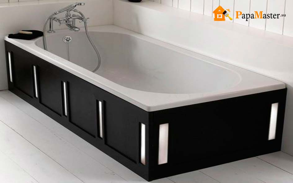 как установить новую ванну
