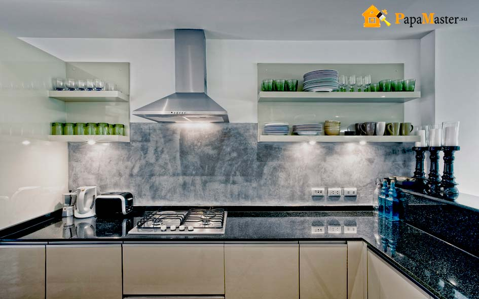 необычный дизайн кухни без верхних шкафов быть или не быть папа