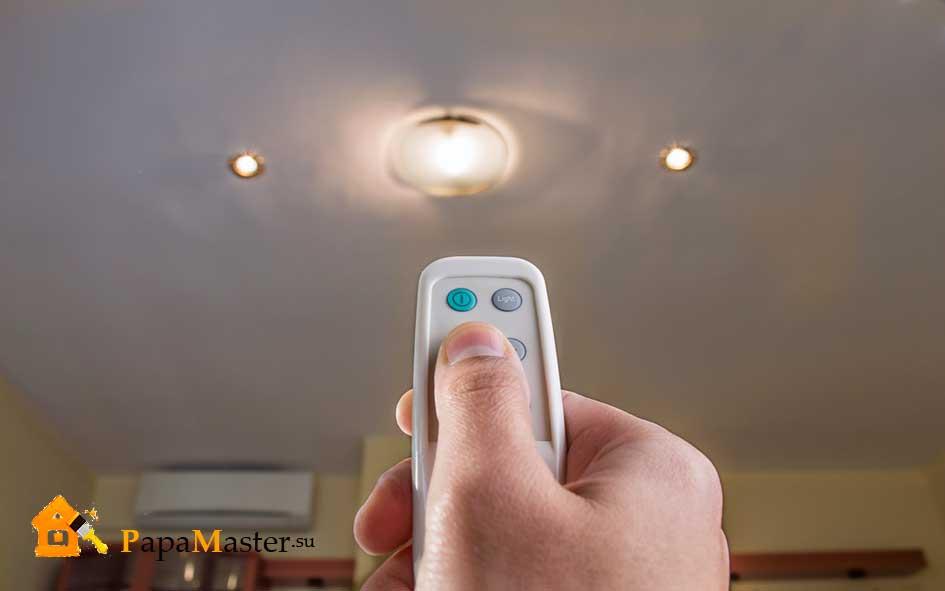 светодиодная люстра с пультом управления фото
