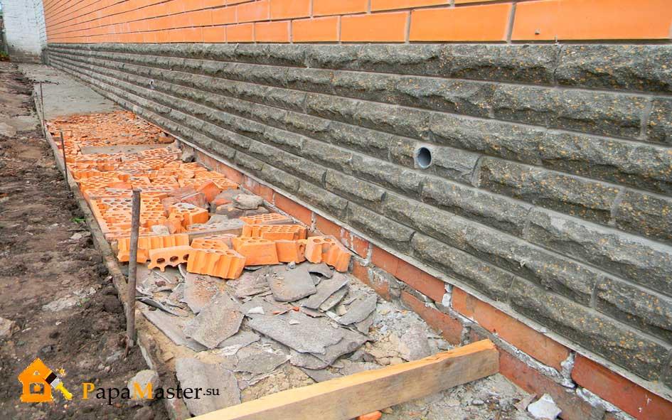 Отмостка вокруг дома своими руками: устройство бетонной, из 49