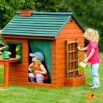 Деревянный детский домик своими руками